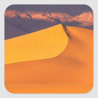 Death Valley at Dawn. California Square Sticker