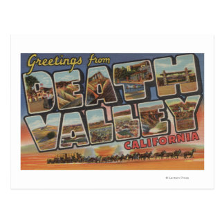 Death Valley, California - Large Letter Scenes Postcard