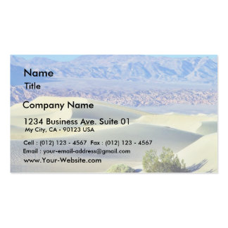 Death Valley Deserts Sand Dunes Pack Of Standard Business Cards