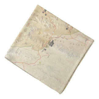Death Valley map bandana