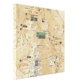 Death Valley map canvas print