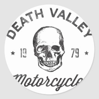 Death Valley Motorcycles Classic Round Sticker