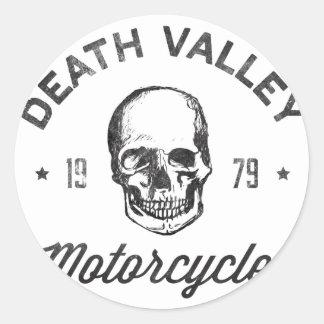 Death Valley Motorcycles Round Sticker