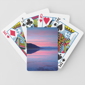 Death Valley National Park. Badwater at dawn Bicycle Playing Cards