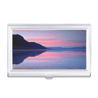 Death Valley National Park. Badwater at dawn Business Card Holder