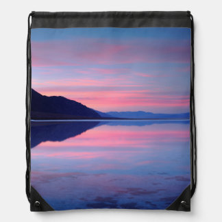 Death Valley National Park. Badwater at dawn Drawstring Bag