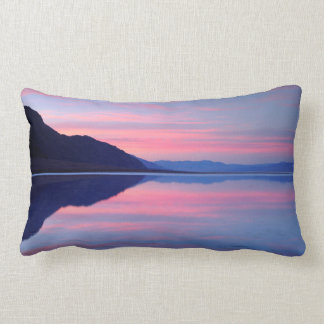 Death Valley National Park. Badwater at dawn Lumbar Pillow