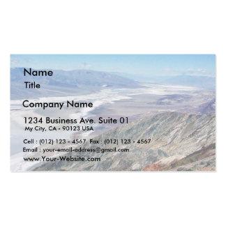 Death Valley Salt Desert Mountains Pack Of Standard Business Cards