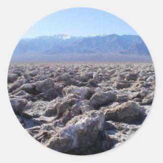 Death Valley Scene 07 Classic Round Sticker