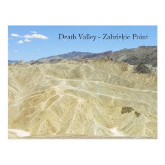 Death Valley/Zabriskie Point Postcard! Postcard