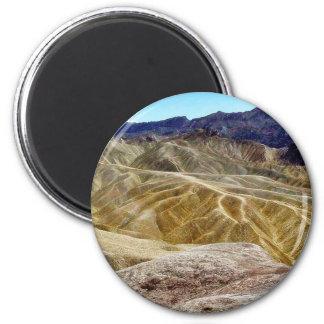 Death Valley Zabriskie Point Sand Desert 6 Cm Round Magnet