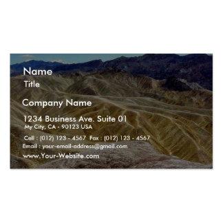 Death Valley Zabriskie Point Sand Desert Pack Of Standard Business Cards