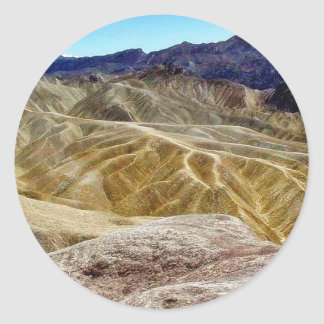 Death Valley Zabriskie Point Sand Desert Round Sticker