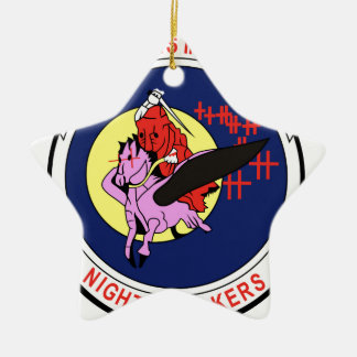 Death waits in the Darh Night Stalkers Ceramic Star Decoration
