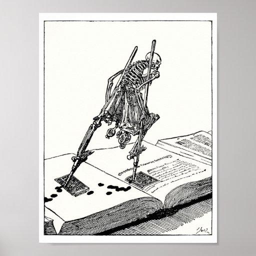 Death walking on stilts print