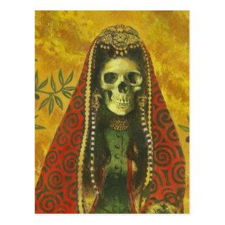 Death Witch Skull Postcard