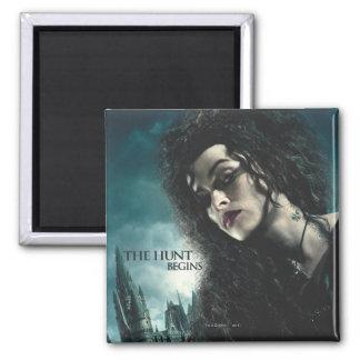 Deathly Hallows - Bellatrix Lestrange 2 Square Magnet