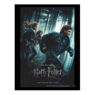 Deathly Hallows - Group Running Postcards