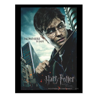 Deathly Hallows - Harry Postcard