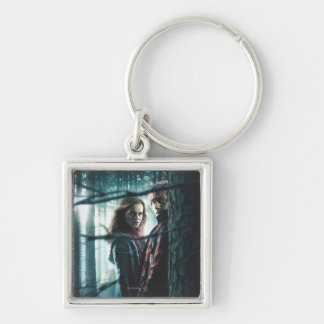 Deathly Hallows - Hermione and Ron Keychains