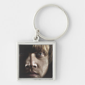 Deathly Hallows - Ron Silver-Colored Square Key Ring