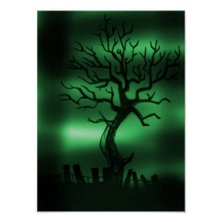 Deathly Hallows Tree Poster
