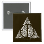 DEATHLY HALLOWS™ Typography Graphic 15 Cm Square Badge