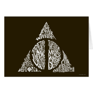 DEATHLY HALLOWS™ Typography Graphic Greeting Card