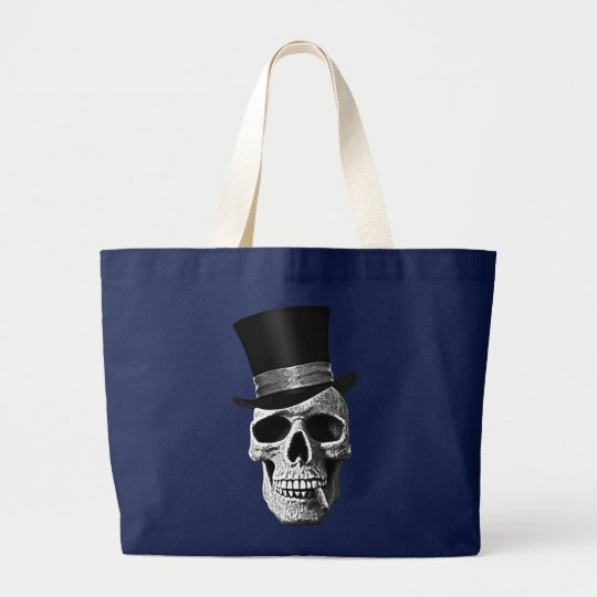 Death's-head gentlemen large tote bag