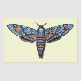 Death's Head Moth, aka Sphinx atropo moth Rectangular Sticker