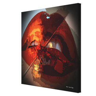 Death's Mistress Gothic Modern Art Wrapped Canvas Canvas Print