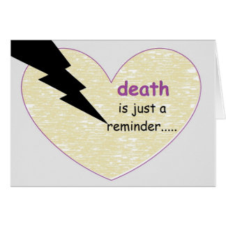 death's reminder...by peacewillow card