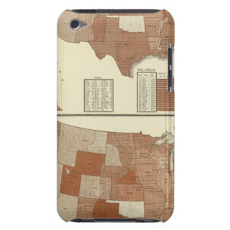 Deaths statistical map barely there iPod case