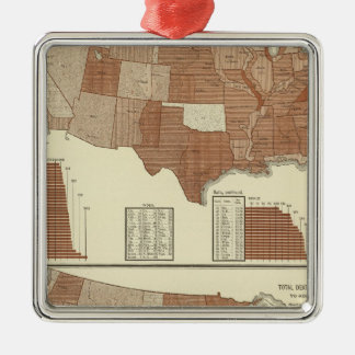 Deaths statistical map christmas ornament