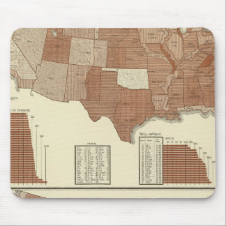 Deaths statistical map mouse pad