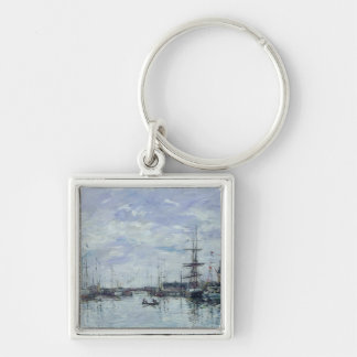 Deauville, the Dock, 1892 Silver-Colored Square Key Ring