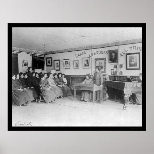 Debate Class at the Carlisle Indian School 1901 Poster