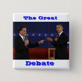 debate-number-21.jpg, The Great, Debate 15 Cm Square Badge
