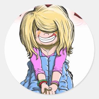 Debby Love Round Sticker