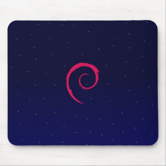 Debian with a space Background Mouse Mat