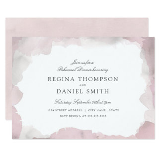 Debonair Blush Pink Rehearsal Dinner Card