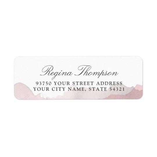Debonair Blush Pink Return Address Label