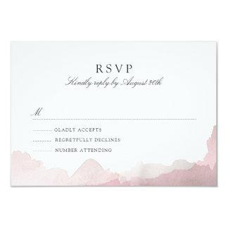 Debonair Blush Pink RSVP Card