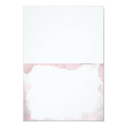Debonair Blush Pink Wedding Folded Escort Cards