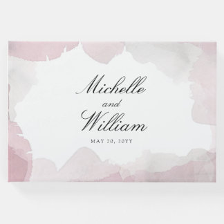 Debonair Blush Pink Wedding Guest Book