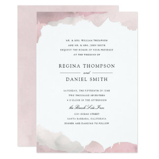 Debonair Blush Pink Wedding Invitation