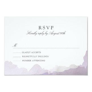 Debonair Lavender RSVP Card