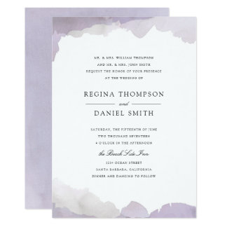 Debonair Lavender Wedding Invitation