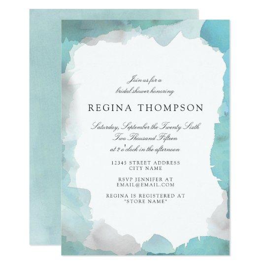 Debonair Turquoise Bridal Shower Invitation