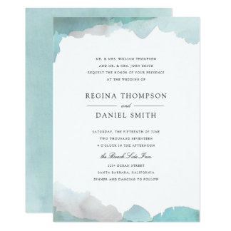 Debonair Turquoise Wedding Invitation